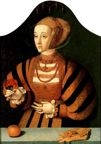 Ana de Cleves, por Bartholomäus Bruyn, o velho. Datado de 1540.
