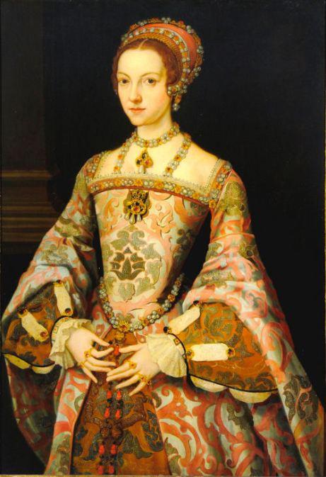 Catarina Parr, anteriormente catalogado por engano como sendo Jane Grey. Final do século XVI, por artista desconhecido.