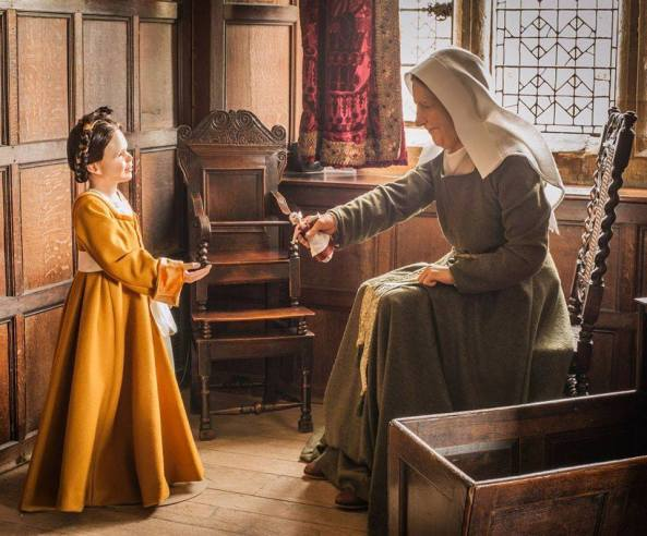 Representação de Ana Bolena quando criança e sua governanta, em Hever Castle.