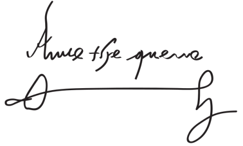 Assinatura de Ana Bolena.