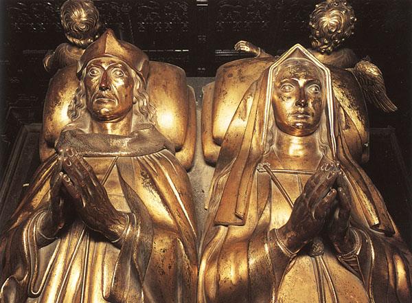 Efígies de Henrique VI e Elizabeth de York.