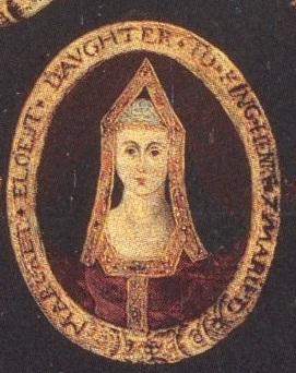 Retrato de Margaret de uma árvore de família a partir do reinado de seu bisneto, James VI / I da Escócia e da Inglaterra.