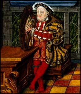 Henrique VIII tocando Harpa.