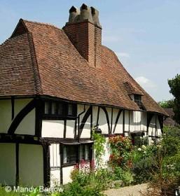 Telhado de uma casa Tudor.