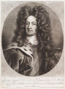 NPG D11633,King George I when Elector of Hanover,by and published by; after John Smith; Johann Leonhard Hirschmann