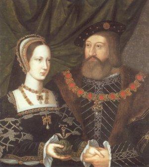 Maria com seu marido, Charles Brandon.