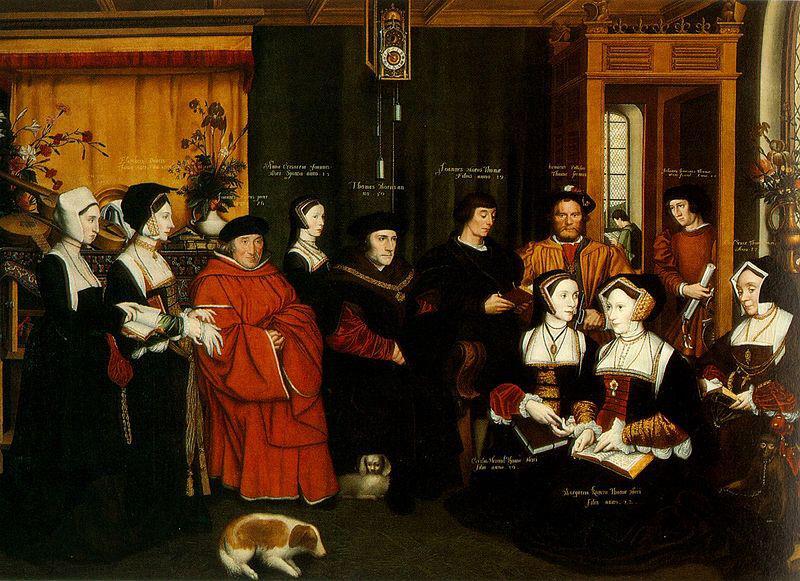 Retrato da família de Thomas More c. 1594 - Por Hans Holbein o Jovem.