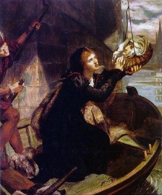 Margaret  Roper, filha de Thomas More, recuperando a cabeça de seu pai.