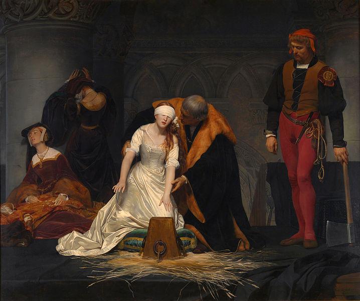 Execução de Jane Grey - Por Paul De la Roche 1834.