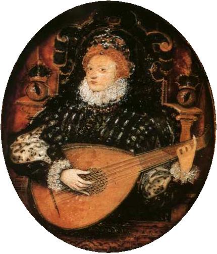 Elizabeth I tocando alaúde.