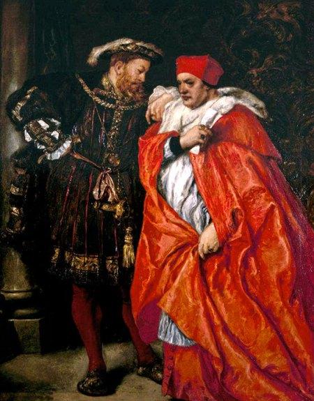 Wolsey e Henrique VIII.