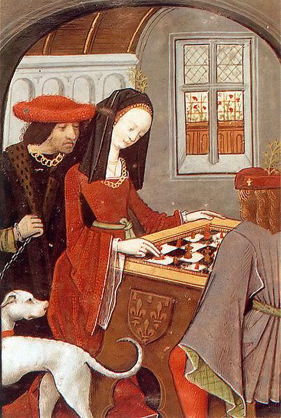 Charles d'Angoulême e Luísa de Savóia jogando Xadrez.