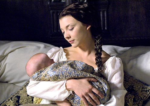 Natalie Dormer como Ana Bolena na série The Tudors.
