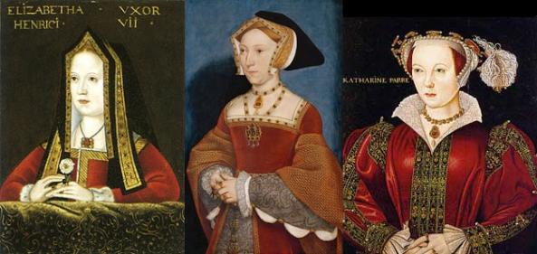 Vitimas Tudor da febre puerperal: Elizabeth de York, Jane Seymour, Catarina Parr.