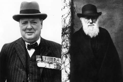 O líder de guerra Winston Churchill e Darwin, foram considerados abaixo da média.