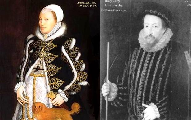 Catarina e Henrique Carey, primos de Elizabeth.