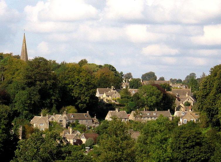Vilarejo de Bisley em Gloucestershire - Inglaterra.