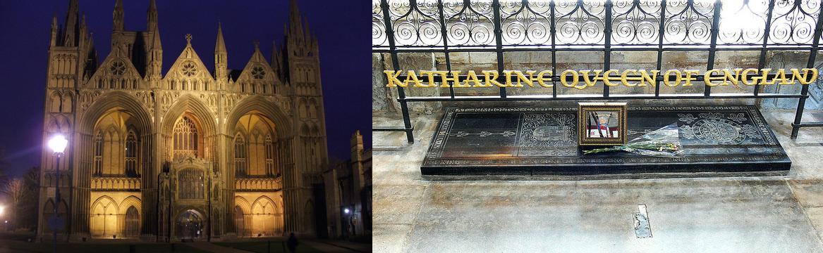 Catedral de peterborough, onde Catarina de Aragão está sepultada.