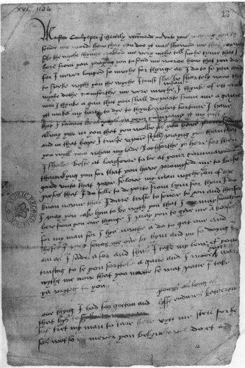 Carta original.