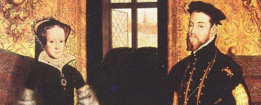 Maria I e seu marido Philip II da Espanha.