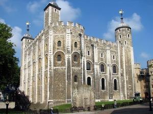 Torre de Londres. Local onde Elizabeth esteve em duas diferentes ocasiões, uma para ser presa, outra rumo a sua coroação.