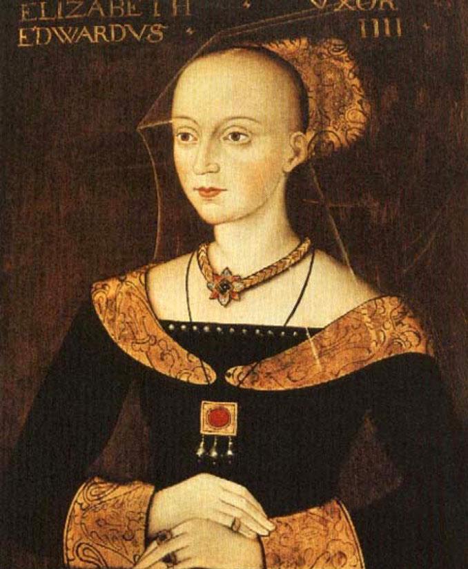 Elizabeth Woodville, peça chave para a herança italiana Tudor.