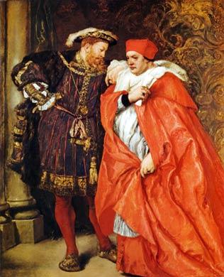 Henrique VIII e Cardeal  Wolsey.