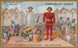 Marca de chocolates ilustra a execução de Essex.