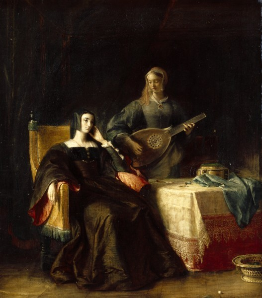 Queen_Katherine_and_Patience_by_Charles_Robert_Leslie