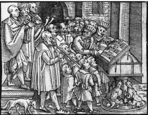 c1550, Tudor musicians in church_0