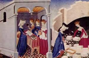 Ilustração do livro ''A Cidade das Senhoras'', de Pisano.