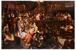 2006AV1937_globe_theatre_painting_david_scott