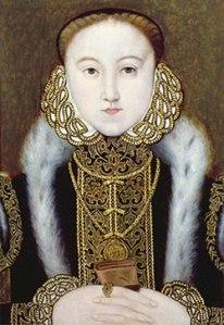 Elizabeth I, enquanto Princesa, c.1555. Artista Desconhecido. Acervo Privado.