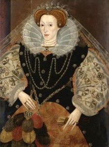 Rainha Elizabeth I com um Leque, c.1595. Artista Desconhecido. Acervo Privado.