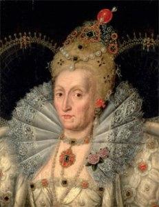 Rainha Elizabeth, c.1592 Segundo Marcus Gheeraerts, o Jovem. Burghley House.