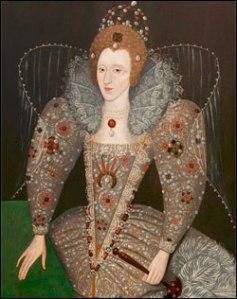 Rainha Elizabeth com um Leque, c.1592. Artista Desconhecido. ©Compton Verney, UK