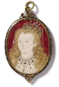 Rainha Elizabeth, c.1590-1603. Miniatura por Nicholas Hilliard. © Victoria & Albert Museum.