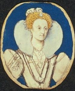Rainha Elizabeth I c.1590-1592. Esboço preparatório por Isaac Oliver. © Victoria & Albert Museum.