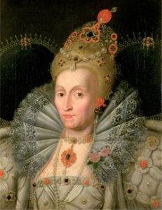 Rainha Elizabeth, c.1592 Segundo Marcus Gheeraerts, o Jovem. Wimpole Hall.