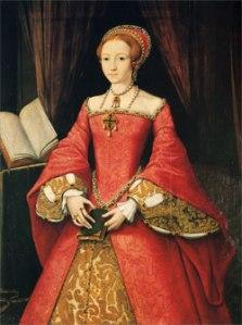 Princesa Elizabeth, c. 1546-7. Atribuído a William Scrots. Castelo de Windsor. © The Royal Collection.