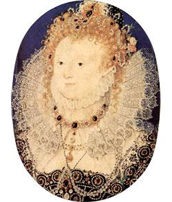 Rainha Elizabeth I c.1595-1600. Miniatura por Nicholas Hilliard. © The Royal Collection.