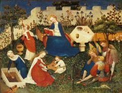 mulher medieval crianças
