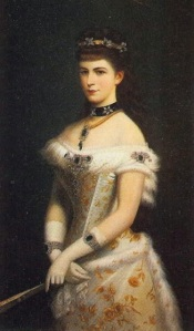 643-the empress-H.I.R.M. Empress Elisabeth of Austria, Queen of Hungary, née Duchess in Bavaria (1837-1898) CourtdressIIIsissi